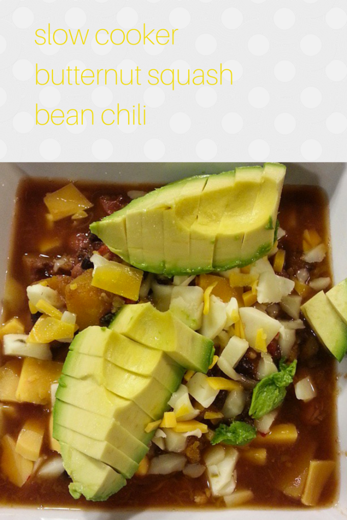 slow cooker butternut squash %0Abean chili (3)