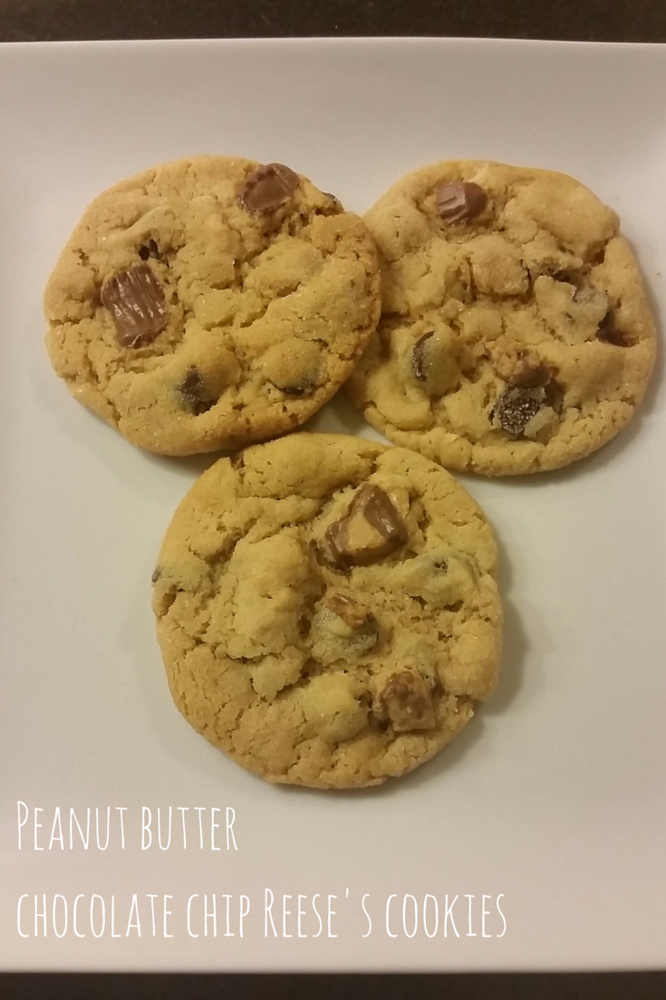 Peanut butter chocolate chip Reese's cookies