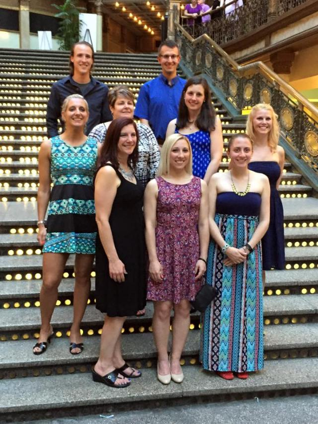 Some of my fellow ambassadors the night before the race - we clean up good!