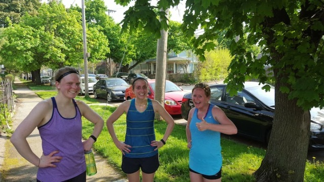 How we look mostly through our run (we stopped for water)