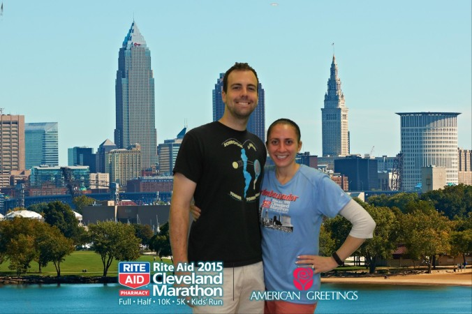 B & I at the Expo. American Greetings photo opp!