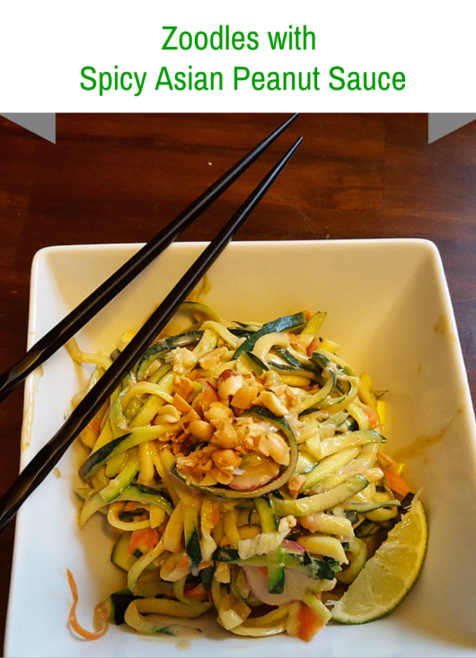Zoodles with Spicy Asian Peanut Sauce