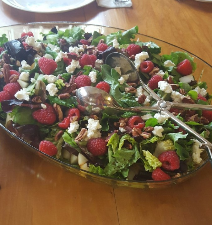 part of dinner - beautiful salad!
