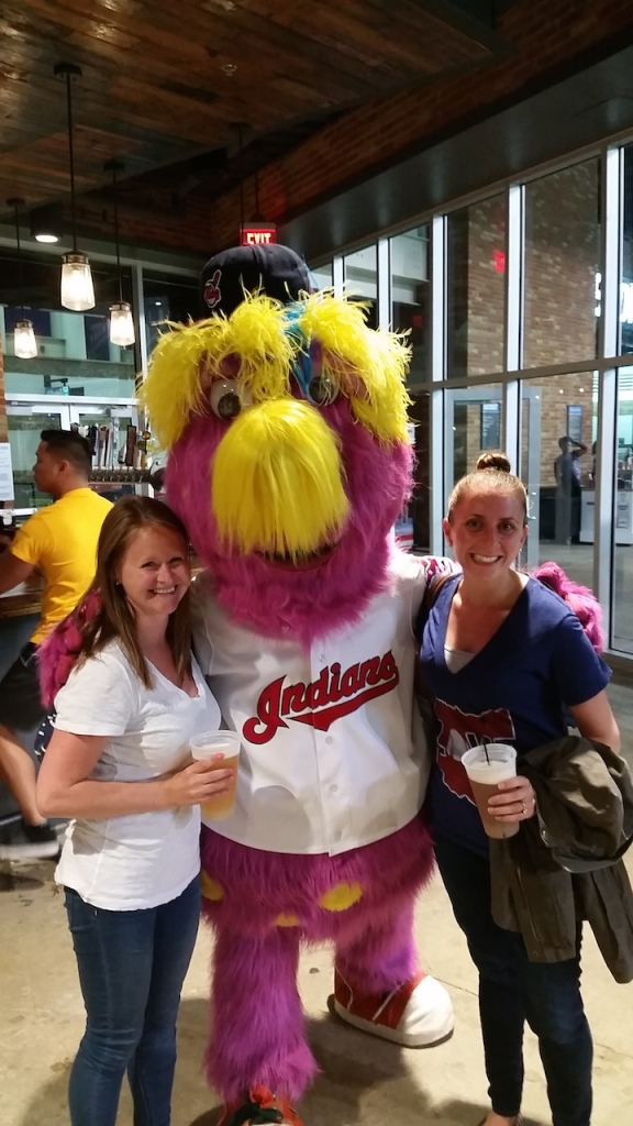 Me and Nicole at the Indians stadium bar watching the Cavs game