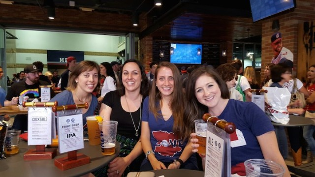 Some ladies from LCBS (Ladies Craft Beer Society) at the game!