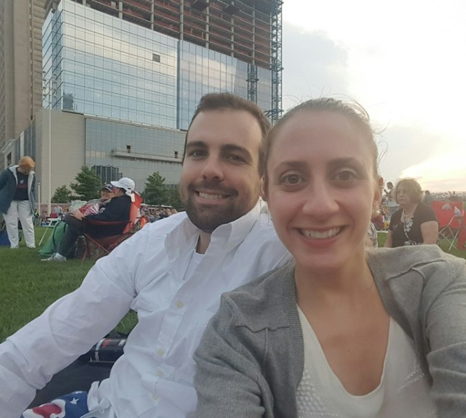 Selfie during the Cleveland fireworks