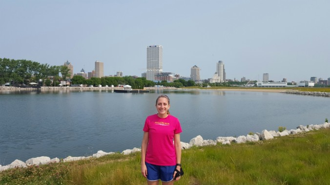 Running along the water in Milwaukee