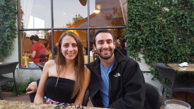 Greg and me at dinner