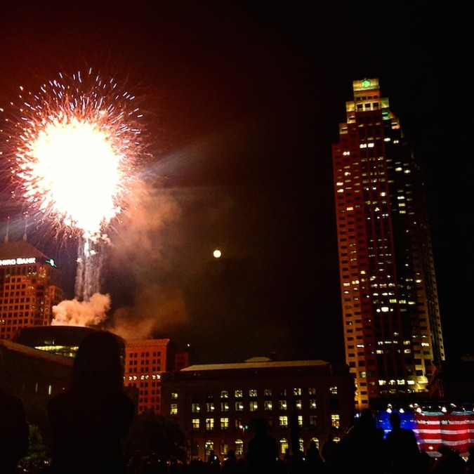 fireworks over downtown CLE