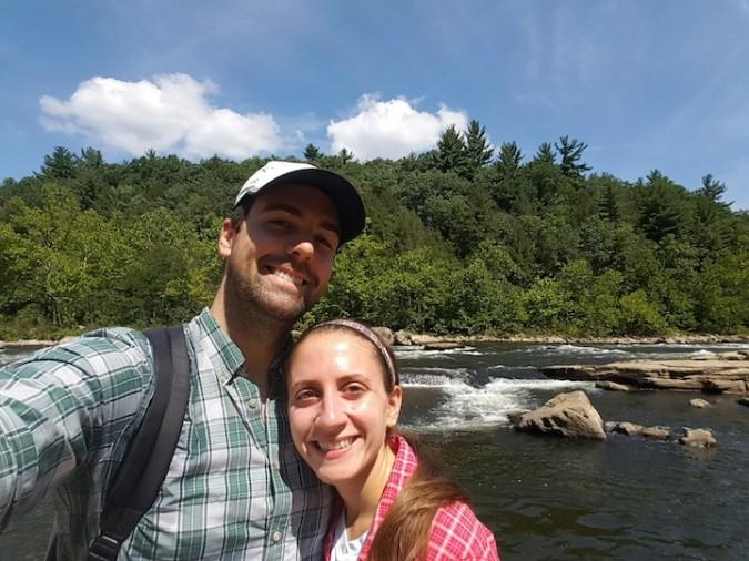 Selfie along the river