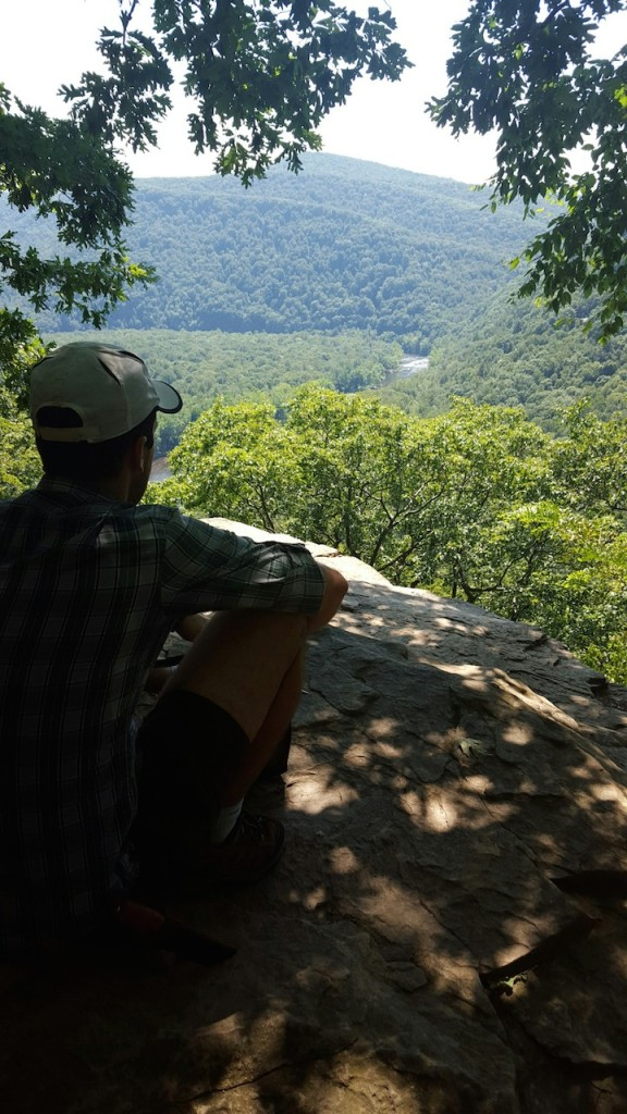 B, taking in the view (shh he didn't know i was snapping a photo!)