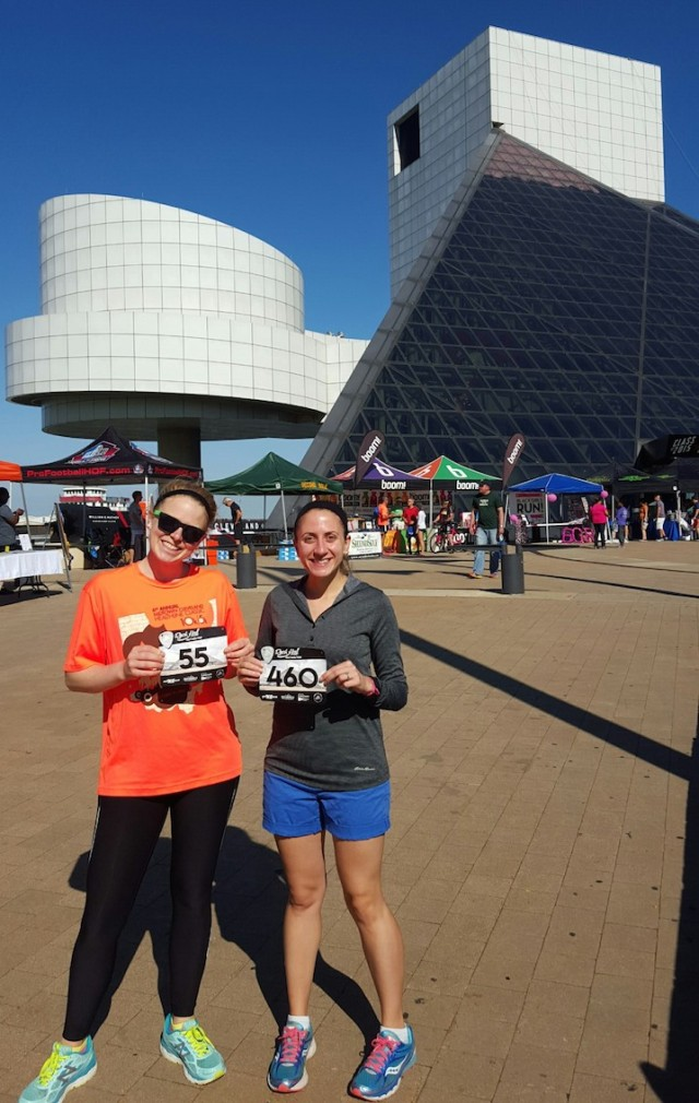 Packet pickup in front of the Rock Hall!