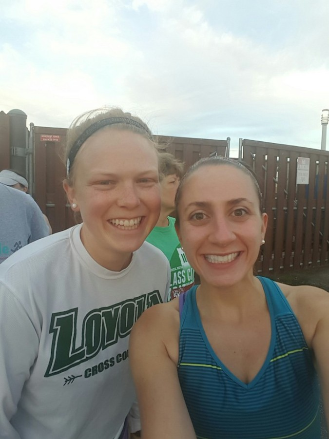 pre-race selfie with Mary