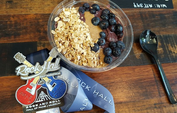 post-race fuel. My fave acai bowl at Restore!