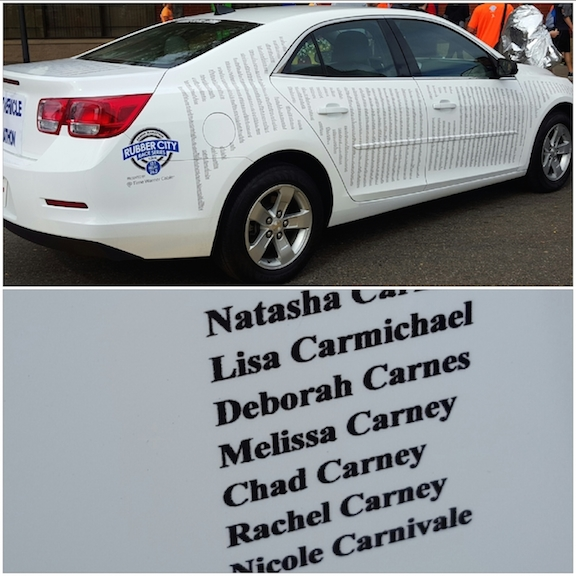 my name on the pace car at the Expo!