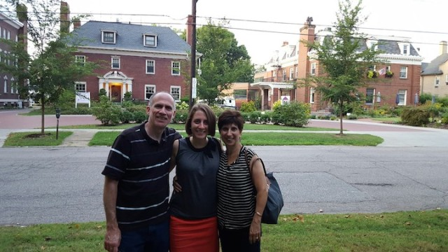 pre-dinner with the parents in Uptown