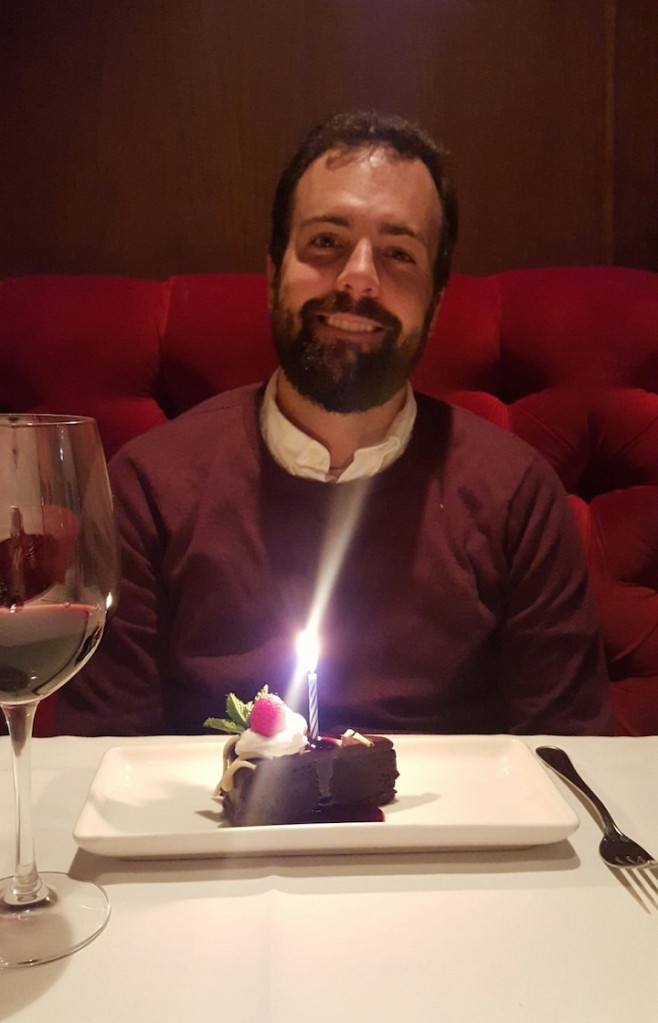 a candle for his birthday!