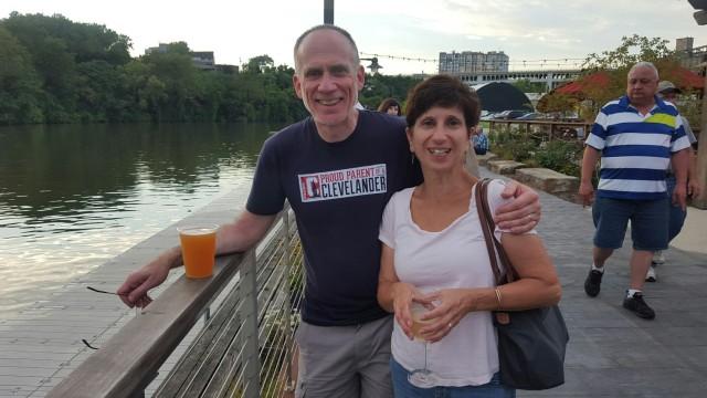 pre-dinner drinks along the river