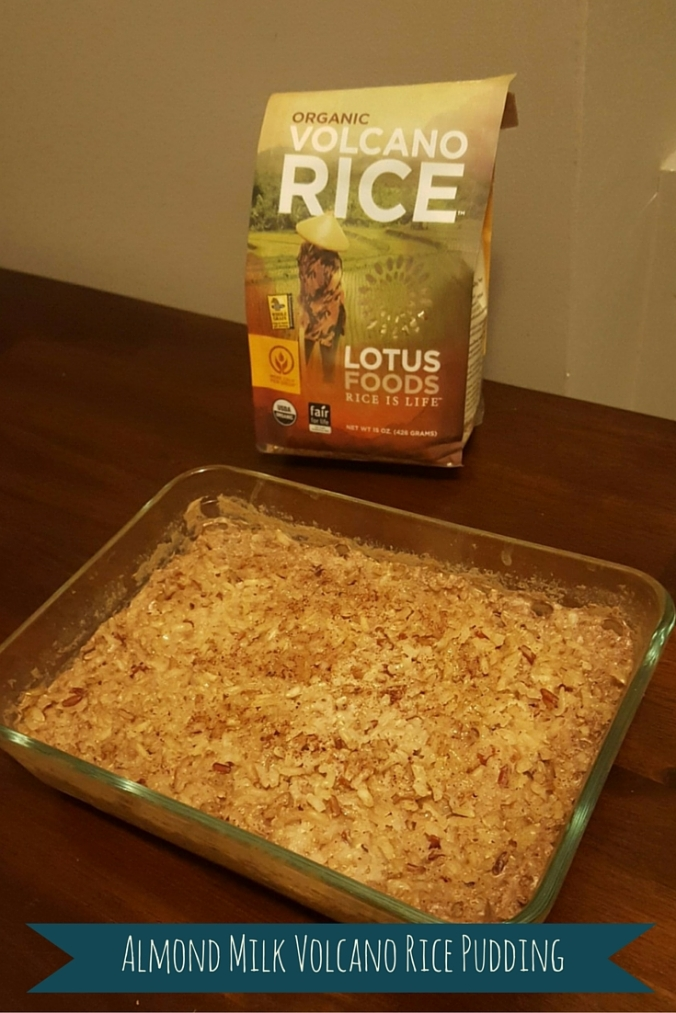 Almond Milk Volcano Rice Pudding