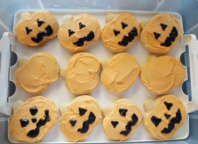 and pumpkin sugar cookies.