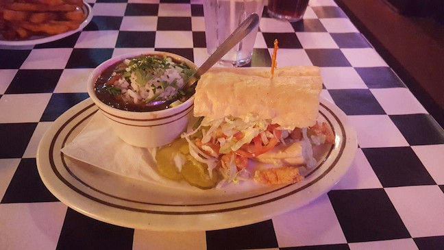 crawfish po boy and gumbo