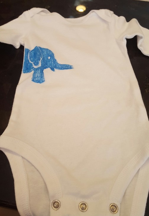 I made this onesie.