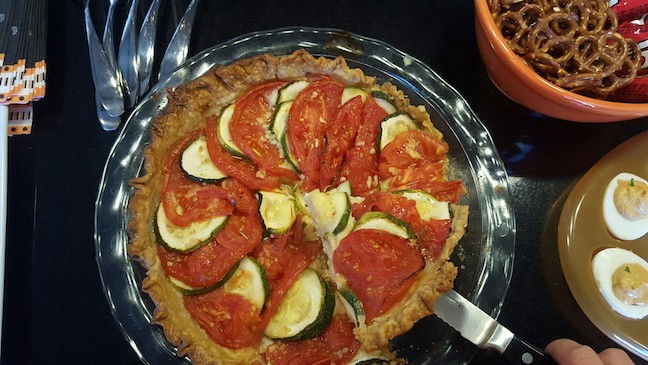 and tomato zucchini cheese pie.
