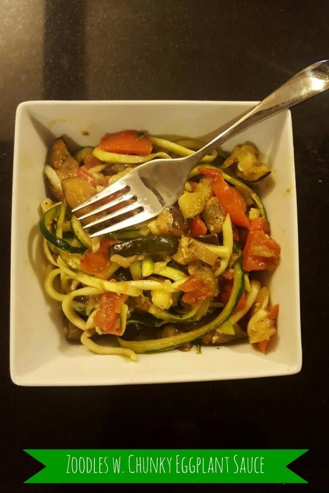Zoodles with Chunky Eggplant Sauce-icrashedtheweb