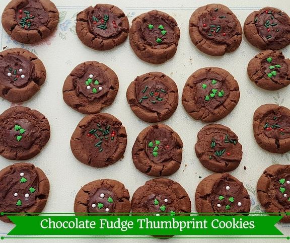 Chocolate Fudge Thumbprint Cookies