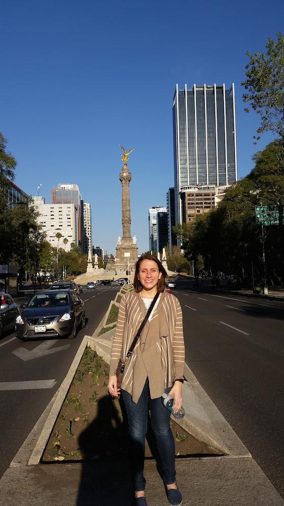 walking around downtown