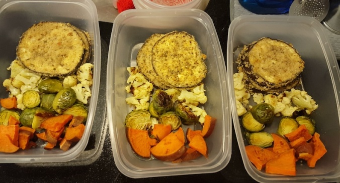roasting some veggies for lunches this week