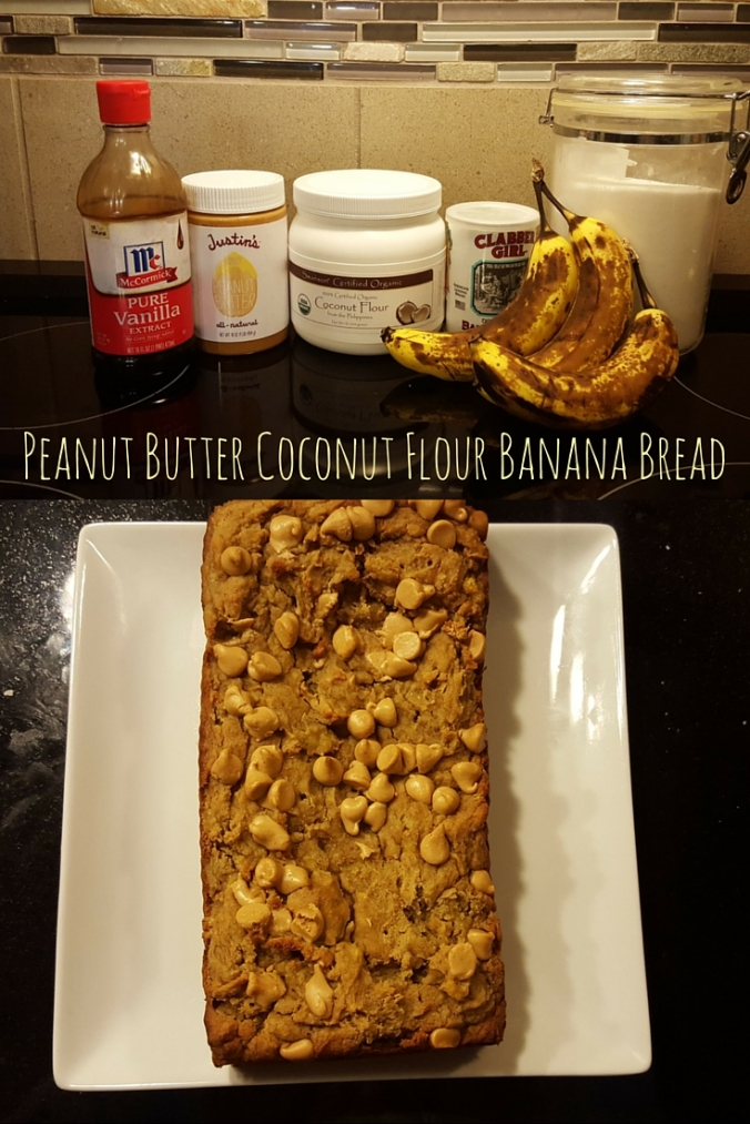 Peanut Butter Coconut Flour Banana Bread-icrashedtheweb
