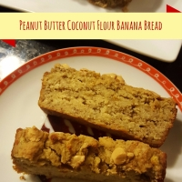 Peanut Butter Coconut Flour Banana Bread
