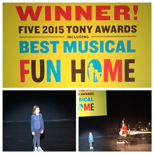 Allison, one of the child understudies from Fun Home, wowed us with her performance! (photo from Playhouse Square)