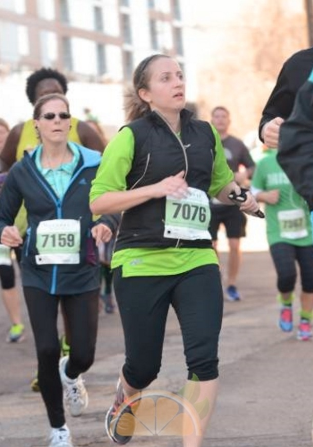 ok this picture was from LAST week but it's me at the Malachi run and another outside run!