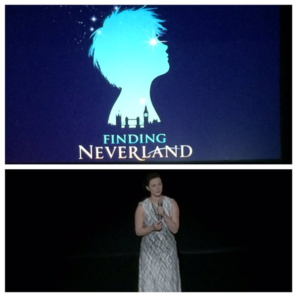 Trista Moldovan, a Broadway star from Northeast Ohio, did an emotional song from Finding Neverland (photo from Playhouse Square)