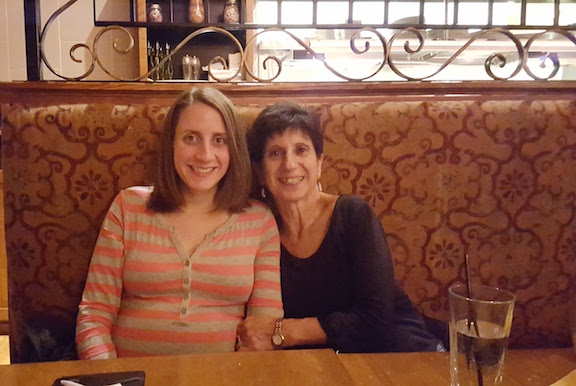 mom and i at dinner