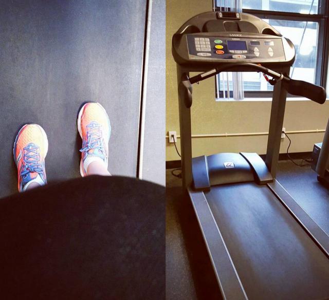 a treadmill selfie. See-I can still see my feet! Yay!