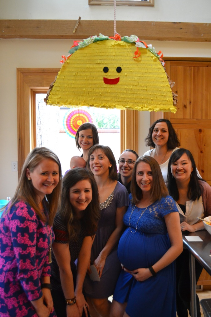 some of the Ladies Craft Beer Society at my baby shower. It was an awesome taco-themed shower!