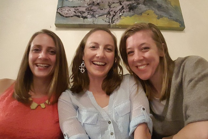 girls night out with Katie and Caitlin!