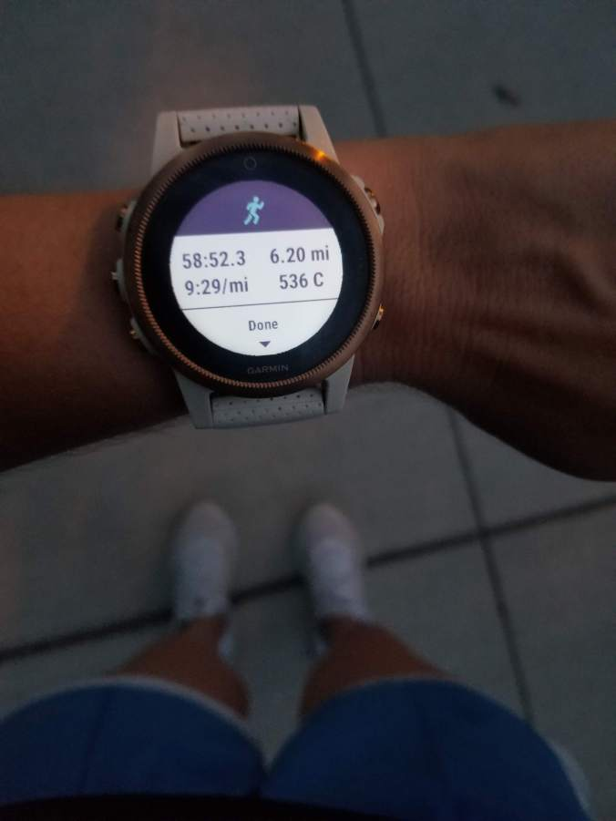 Garmin Fenix 5s running 10k