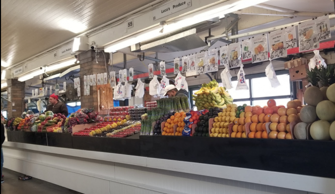The West Side Market produce stands