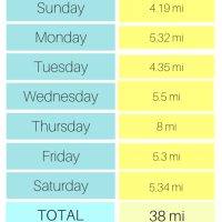 Another Weekly Mileage Record